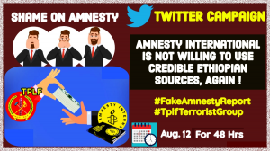 Amnesty International Is Not Willing To Use Credible Ethiopian Sources, Again!